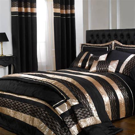 And Black Duvet Set by Cascade Black Gold Midnight Duvet Cover Set
