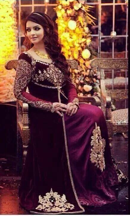 velvet gowns dresses pakistani fashion