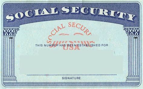 Make A Social Security Card Template Blank Social Security Card Template Social Security Card