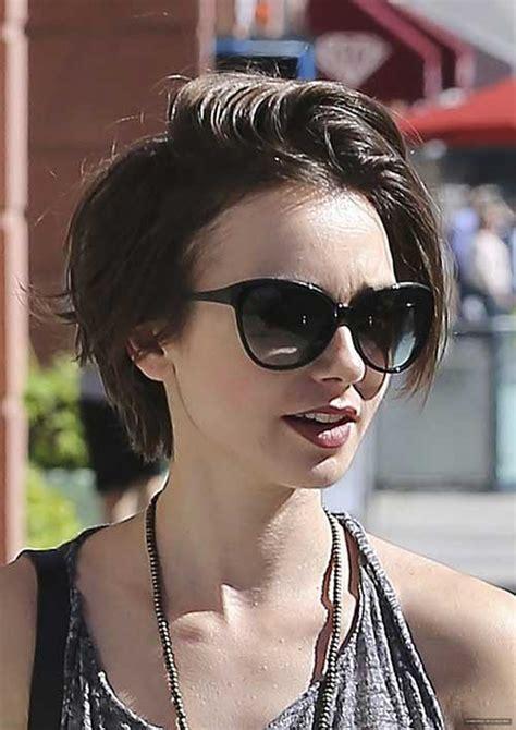 brown short hairstyles  women