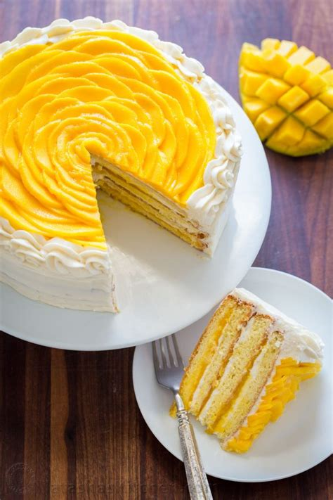 mango cake recipe video natashaskitchencom