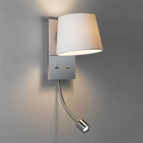 bedroom wall light incorporating led arm book