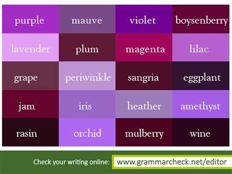 english grammar shades of violet vocabulary