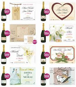 Etiquette Champagne Mariage : etiquettes personnalis es de mariage champagne jean courtillier ~ Teatrodelosmanantiales.com Idées de Décoration