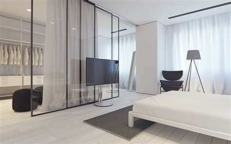 white themed homes  striking modern minimalist aesthetics chambre luxurious bedrooms