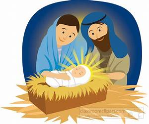 Christian Clipart Clipart- mary-joseph-and-baby-jesus-in ...