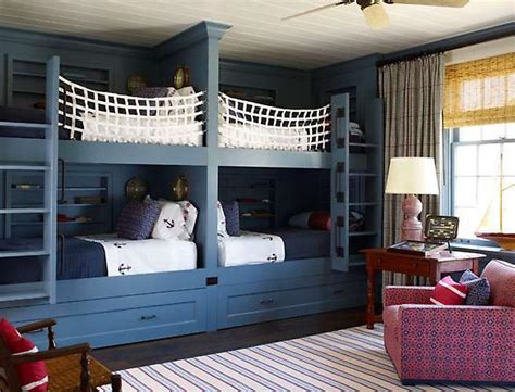 Nautical Bunk Beds Cottage Boys Room Sr Gambrel Bedroom