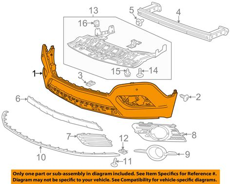 buick gm oem 13 16 encore front bumper lower cover w o