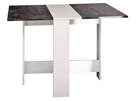 table de cuisine pliante sishui coloris blanc b 233 ton vente de table conforama