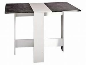 Table Pliable Murale : table de cuisine pliante sishui coloris blanc b ton vente de table conforama ~ Preciouscoupons.com Idées de Décoration