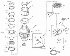 28 Insinkerator Garbage Disposal Parts Diagram