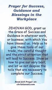Prayer For Success, Guidance and Blessings in the ...