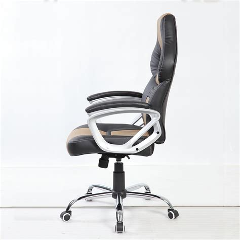 btm high back executive office racing chair leather