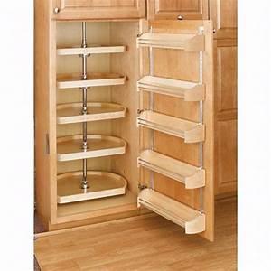 Rev-A-Shelf Wood Storage Trays with Adjustable Rail System