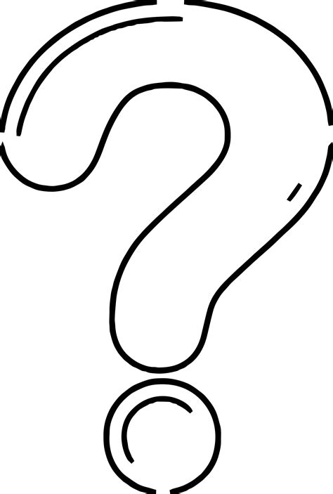 question mark coloring page wecoloringpagecom