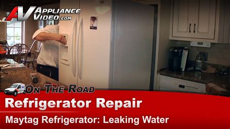 Kitchenaid Dishwasher Leaking From Front Door by Maytag Mf12569veq2 Refrigerator Repair Leaking Water