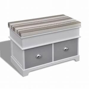 Coussin Pour Banc Ikea : banc de rangement avec 2 tiroirs coussin inclus achat ~ Dailycaller-alerts.com Idées de Décoration