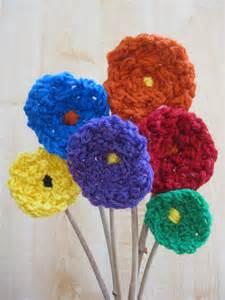Finger Knitting Flowers