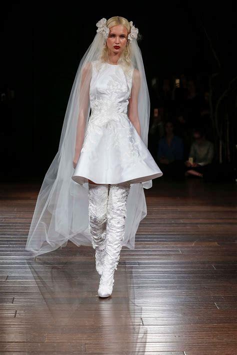 naeem khan bridal fall  collection  vogue