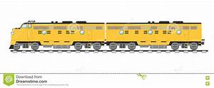 Yellow Freight Train Isolated On White Background Stock ...