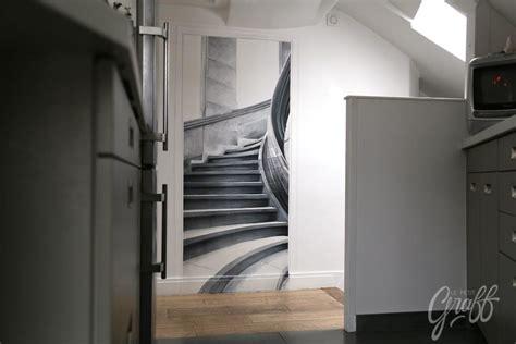 trompe l oeil escalier trompe l oeil cage d escalier le petit graff d 233 coration graffiti fresque murale trompe l
