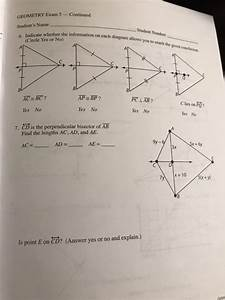 Solved  Geometry Exam 5