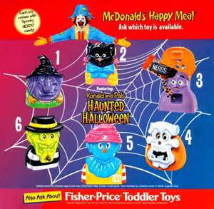 Mcdonalds Halloween Buckets 2014 by Mcdonald S Halloween Happy Meal 1998 Haunted Halloween