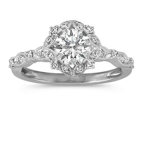 halo vintage diamond engagement ring shane