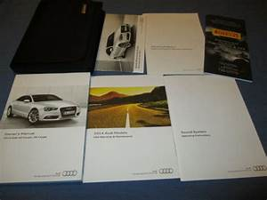 2014 Audi A5 S5 Coupe Owners Manual Set W   Case New