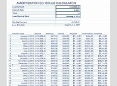 Amortization Schedule Calculator 20 For Numbers Free