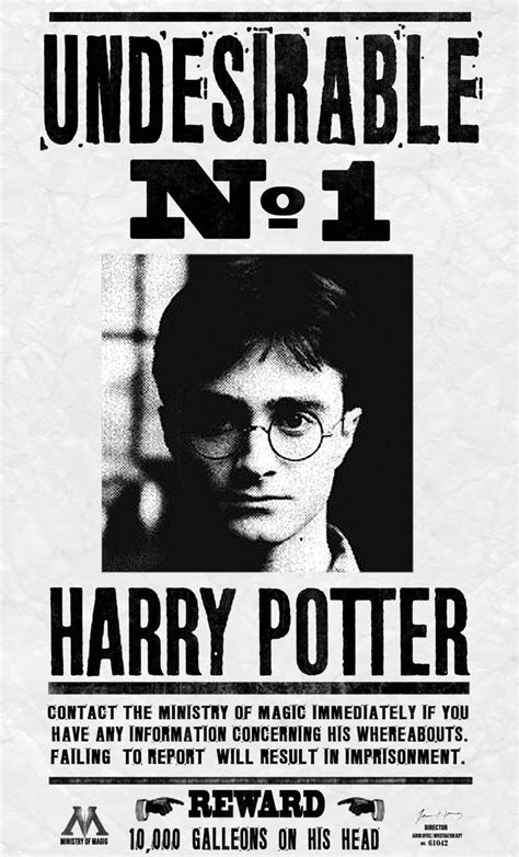 harry potter wanted poster desalas template