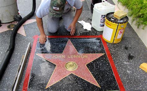 john lennons hollywood star defaced withgrateful dead