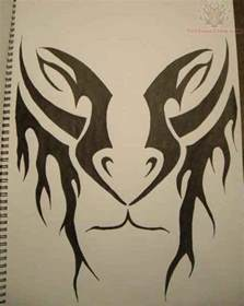 Tribal Lion Tattoo Drawings