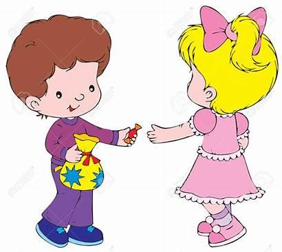Sharing Clipart Children Toys Friendship Clip Sweet