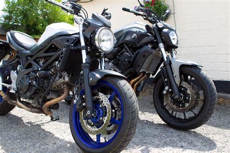Yamaha Suzuki Of by Mt 07 Vs Sv650 Review Visordown