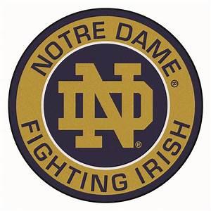 "Notre Dame Fighting Irish Logo Roundel Mat - 27"""