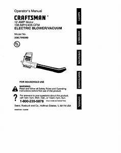 Craftsman Blower 79938 User Guide