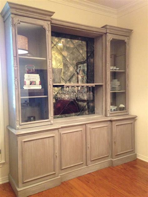 custom oak wall unit limed oak finish painted  chalk