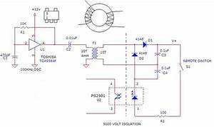 Circuits For Switch Control Using Phototransistor Remote