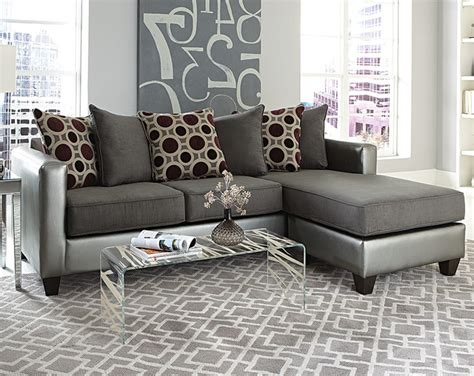 American Freight Sofa Tables by Mulberry Graphite 2 Sectional Modern Living Room