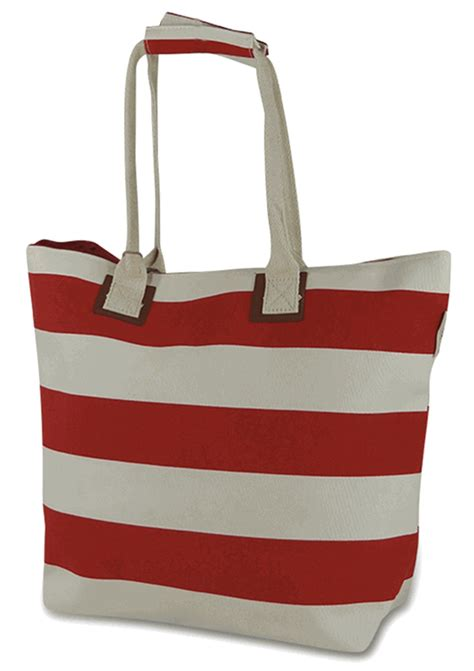 striped beach tote embroidered