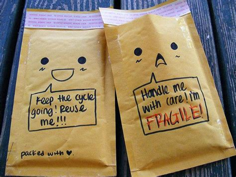 cute bubble mailers  easy  draw faces speech