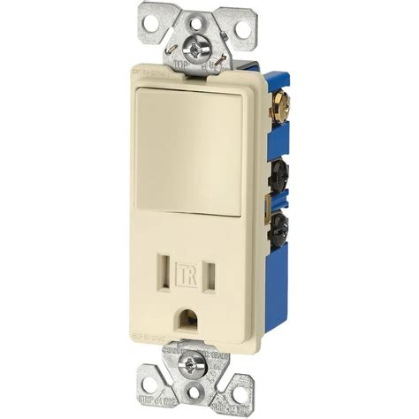 eaton 3 wire tr receptacle 120 volt decorator combination single pole switch with 2 pole