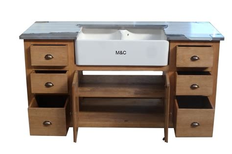 meuble evier cuisine meuble evier de cuisine 2 bacs en bois