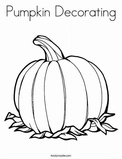 Pumpkin Coloring Decorating Noodle Twisty Twistynoodle Pages