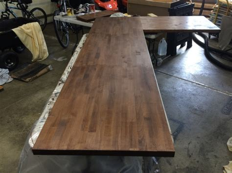 Finishing Up The Second Butcher Block + Galvanized Steel