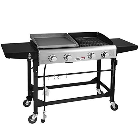 table top griddle propane royal gourmet propane gas grill and griddle combo 4 burner