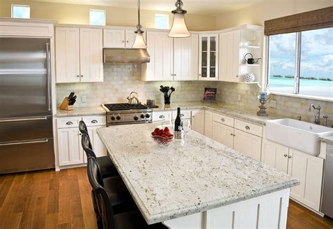 Add Luxury To Your Kitchen With River White Granite Hardwood Laminate Floor Cleaner Vaccum Floors Bathroom How To Get Water Stains Out Of Plano Ratings Manufactured Flooring Home Depot