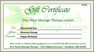 gift certificate template for massage therapy gallery With massage therapy gift certificate template