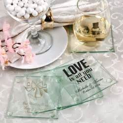 wedding favor coasters personalized glass coasters wedding favors